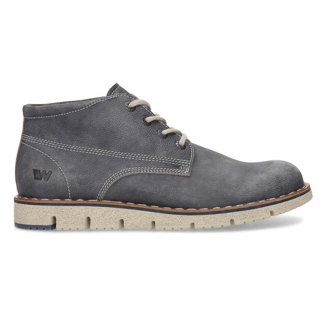 Skórzane obuwie męskie za kostkę weinbrenner, niebieski, 846-2658 - 19