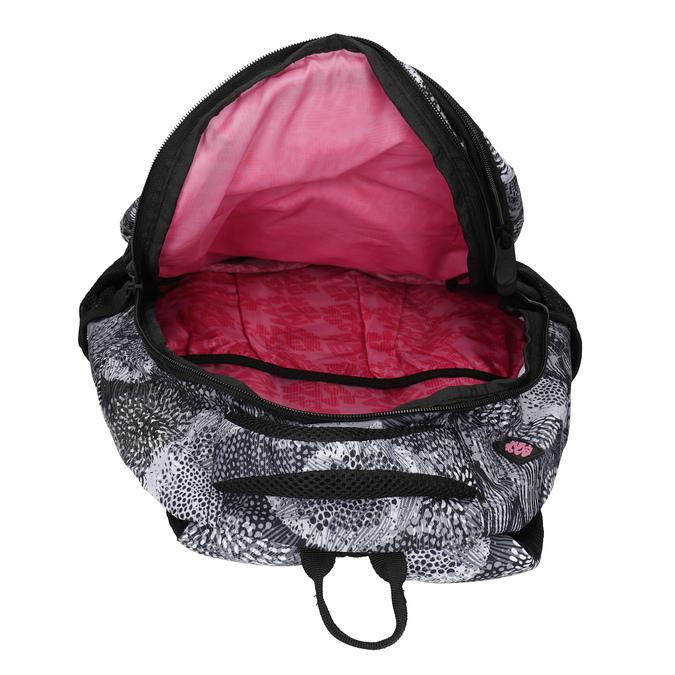 Czarno-biały plecak szkolny bagmaster, szary, 969-2719 - 15
