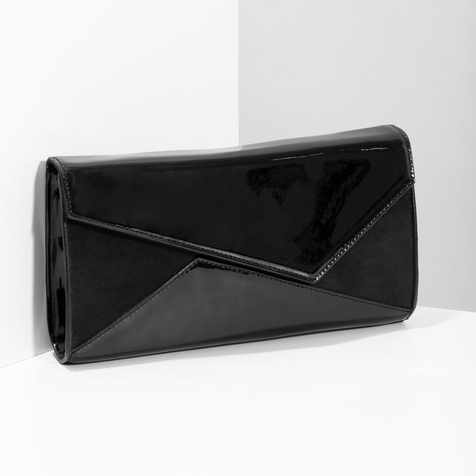 Czarna asymetryczna kopertówka bata, czarny, 961-6912 - 17