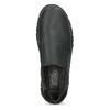 Skórzane obuwie męskie typu slip-on zprzeszyciami camel-active, czarny, 816-6011 - 17