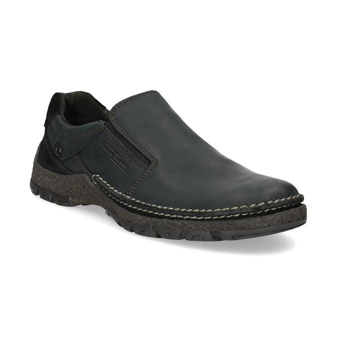 Skórzane obuwie męskie typu slip-on zprzeszyciami camel-active, czarny, 816-6011 - 13