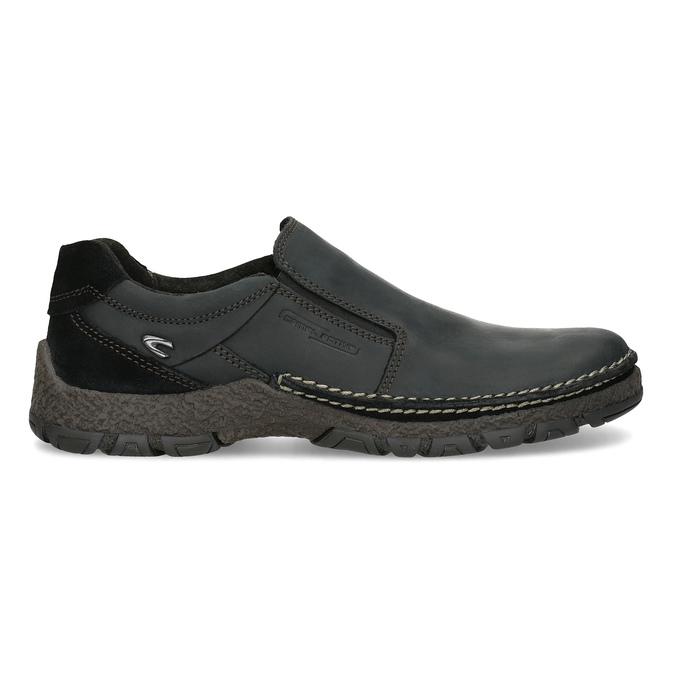 Skórzane obuwie męskie typu slip-on zprzeszyciami camel-active, czarny, 816-6011 - 19