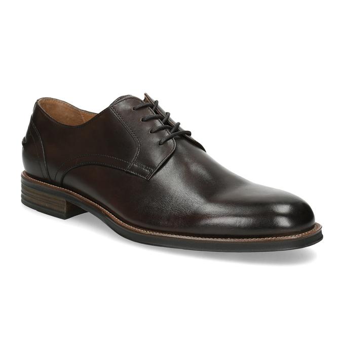 Brązowe skórzane półbuty typu angielki bata, brązowy, 826-4787 - 13