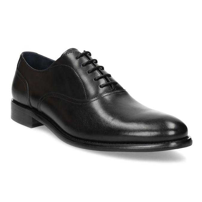 Czarne skórzane półbuty męskie typu oksfordy bata, czarny, 824-6615 - 13