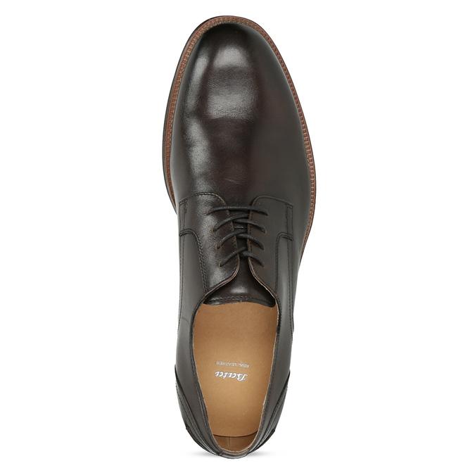 Brązowe skórzane półbuty typu angielki bata, brązowy, 826-4787 - 17