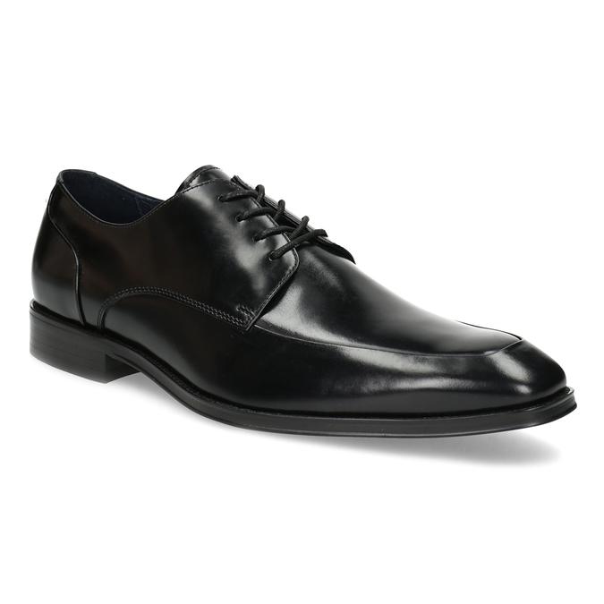 Czarne skórzane półbuty typu angielki bata, czarny, 824-6784 - 13