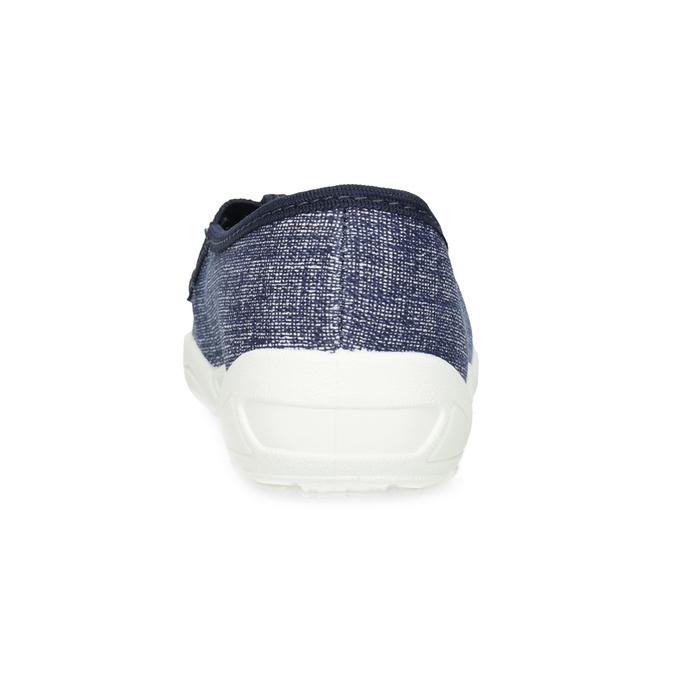 Granatowe kapcie dziecięce znadrukiem mini-b, niebieski, 379-2219 - 15