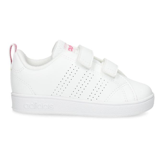 Białe trampki dziecięce zperforacją I zapięciami na rzepy adidas, biały, 101-5133 - 19