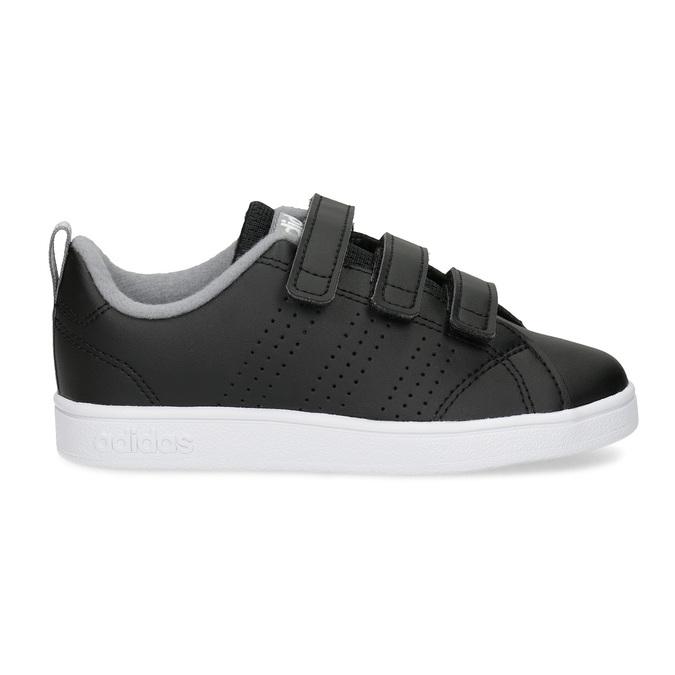 Czarne trampki dziecięce na rzepy adidas, czarny, 301-6268 - 19