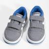 Szare trampki dziecięce zniebieskimi elementami adidas, szary, 101-2194 - 16