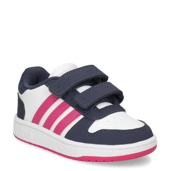 Białe trampki dziecięce na rzepy adidas, biały, 101-1194 - 13