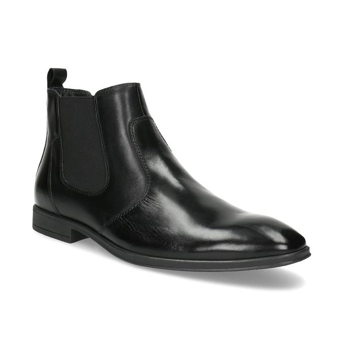Skórzane obuwie męskie za kostkę typu chelsea bata, czarny, 824-6890 - 13