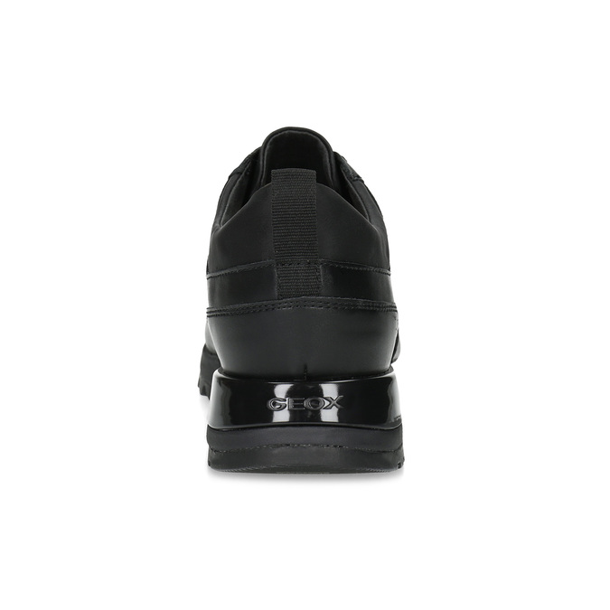Nieformalne trampki damskie na grubej podeszwie geox, czarny, 621-6084 - 15