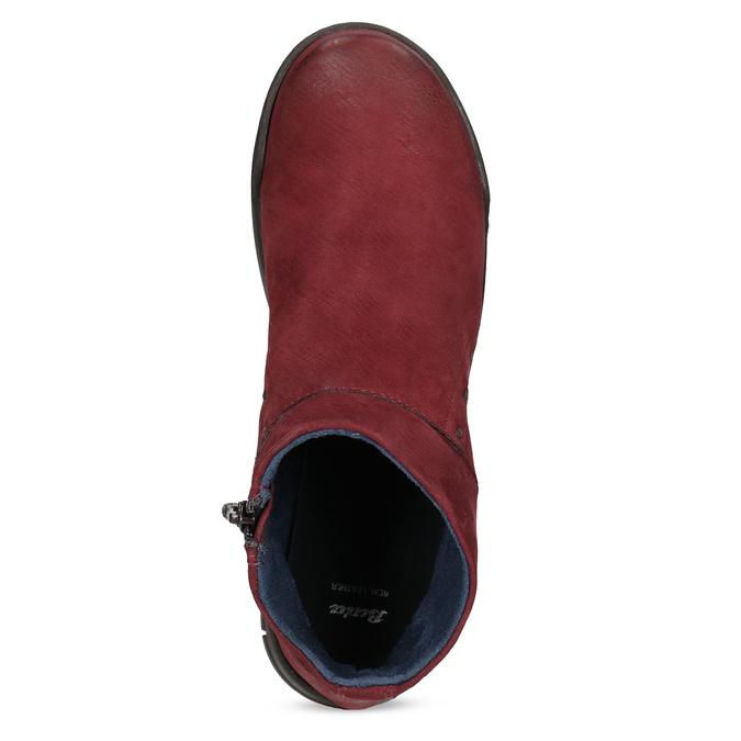Czerwone skórzane botki bata, czerwony, 596-5706 - 17
