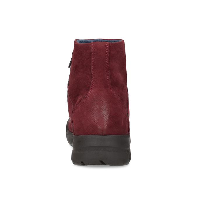 Czerwone skórzane botki bata, czerwony, 596-5706 - 15