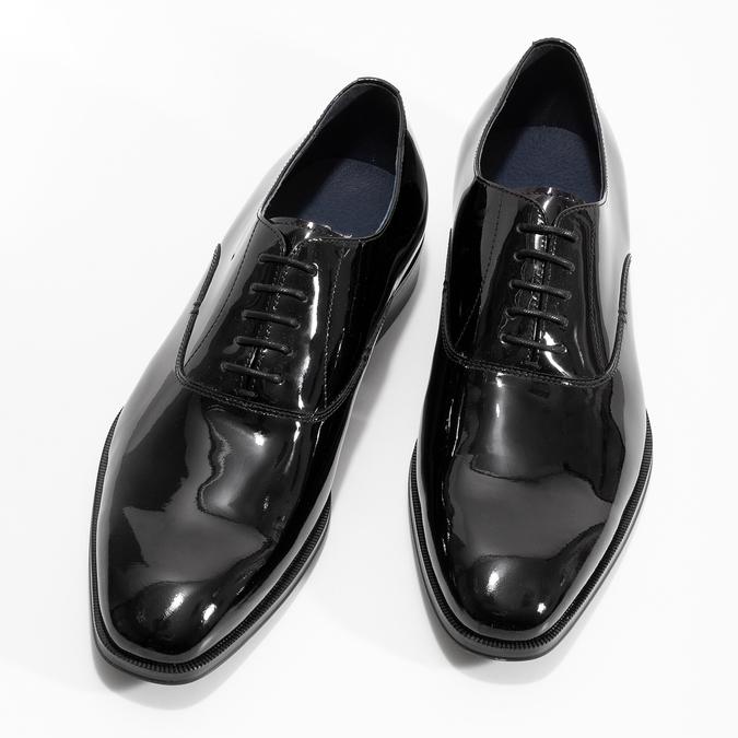 Lakierowane skórzane półbuty męskie typu oksfordy bata, czarny, 828-6608 - 16