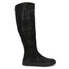 Czarne kozaki damskie zgrubymi zamkami błyskawicznymi bata, czarny, 691-6636 - 19