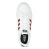Białe trampki męskie zbordowymi elementami adidas, biały, 801-5378 - 17