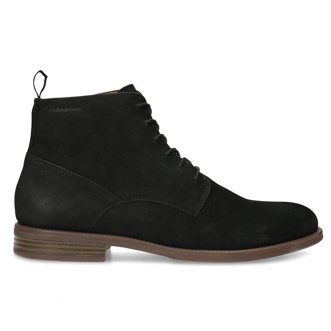 Czarno-brązowe skórzane obuwie męskie za kostkę vagabond, czarny, 826-6153 - 19