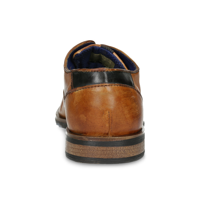 Jasnobrązowe skórzane półbuty męskie bugatti, brązowy, 826-3013 - 15