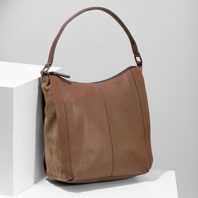 Brązowa skórzana torba bata, brązowy, 964-3254 - 17