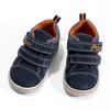Skórzane trampki dziecięce za kostkę, niebieski, 113-9611 - 16