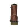 Brązowe skórzane botki damskie bata, brązowy, 596-4732 - 15