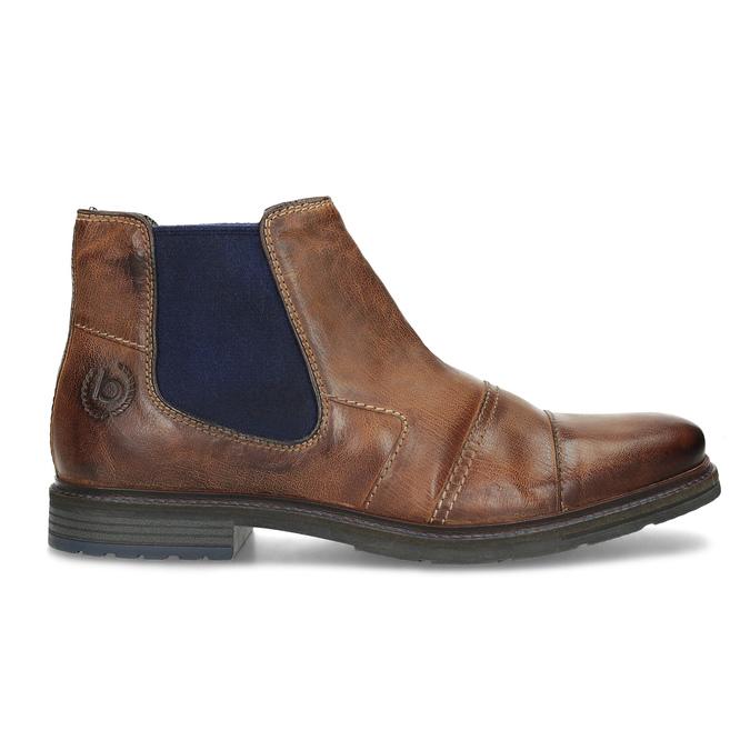 Brązowe skórzane obuwie za kostkę bugatti, brązowy, 816-4065 - 19