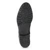 Czarne skórzane kozaki zmetalowymi ćwiekami bata, czarny, 594-6671 - 18