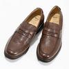 Brązowe skórzane mokasyny wstylu penny loafers comfit, brązowy, 814-3627 - 16