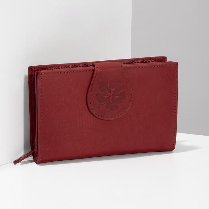 Damski skórzany portfel bata, czerwony, 944-5155 - 17