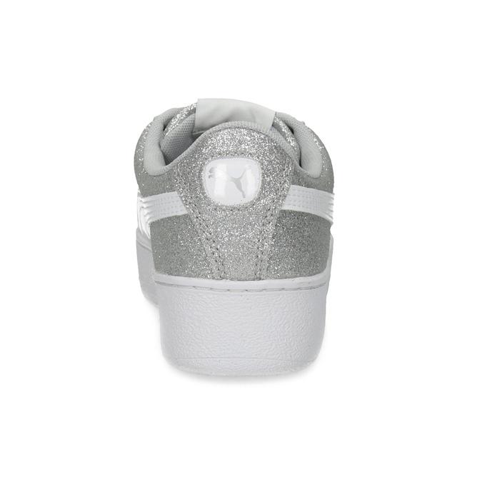 Błyszczące trampki dziecięce na platformie puma, srebrny, 401-2392 - 15