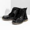 Czarne lakierowane botki dziewczęce mini-b, czarny, 391-6259 - 16