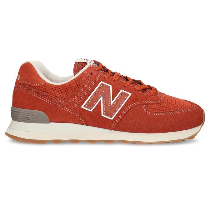 Czerwone sportowe trampki męskie new-balance, pomarańczowy, 803-5174 - 19