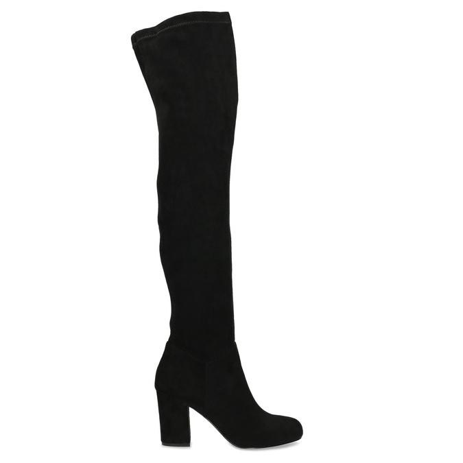 Czarne kozaki damskie za kolana bata, czarny, 799-6638 - 19