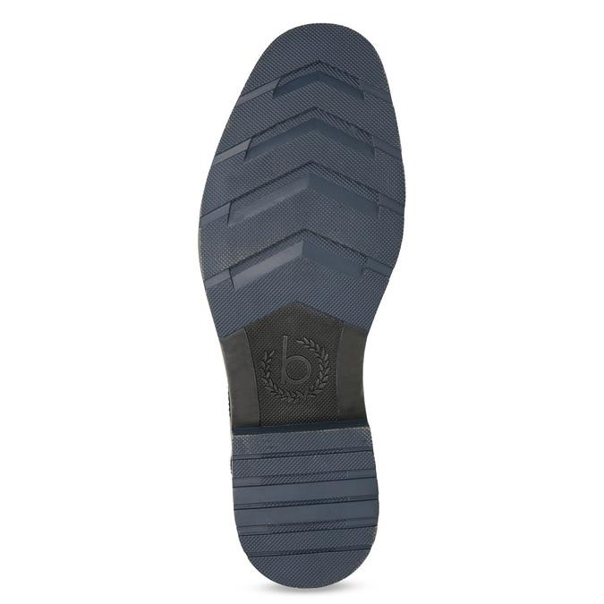 Brązowe skórzane obuwie męskie za kostkę zzamkami błyskawicznymi bugatti, brązowy, 816-4026 - 18