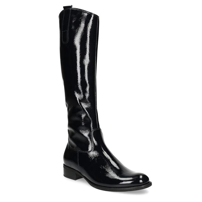293e042ce4d54 Czarne lakierowane kozaki damskie gabor, czarny, 698-9015 - 13