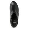 Skórzane botki zklamrami, czarny, 696-6656 - 17