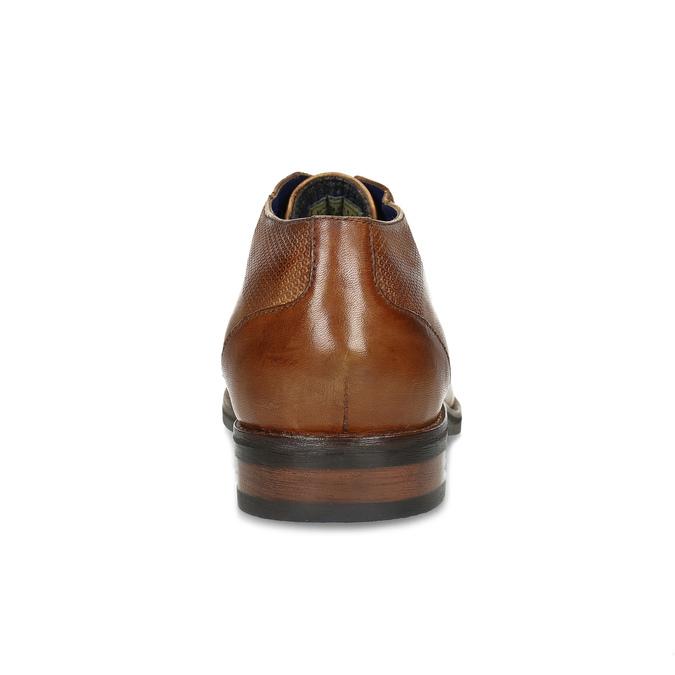 Brązowe skórzane półbuty męskie bugatti, brązowy, 826-3078 - 15