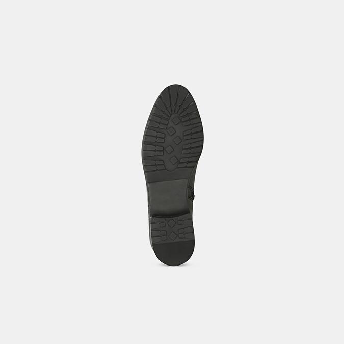 Czarne skórzane kozaki zklamrami bata, czarny, 594-6675 - 17