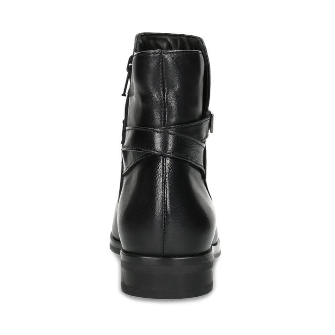 Skórzane kozaki damskie zklamrami bata, czarny, 594-6672 - 15