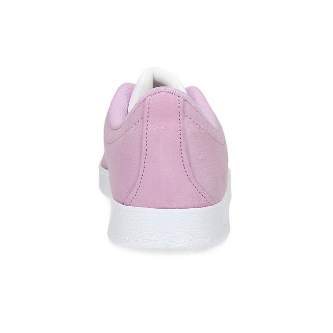 Różowe skórzane trampki dziecięce adidas, różowy, 403-5361 - 15