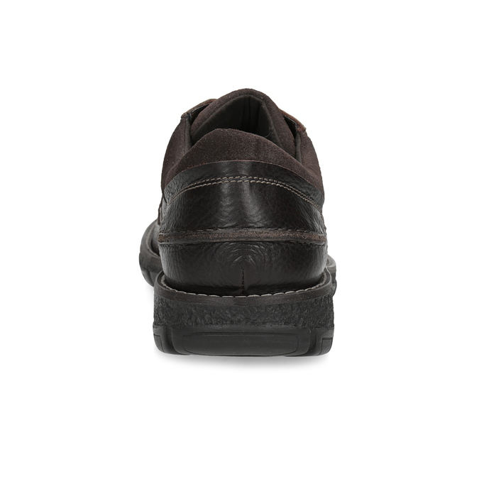 Skórzane półbuty męskie na grubej podeszwie bata, brązowy, 826-4973 - 15