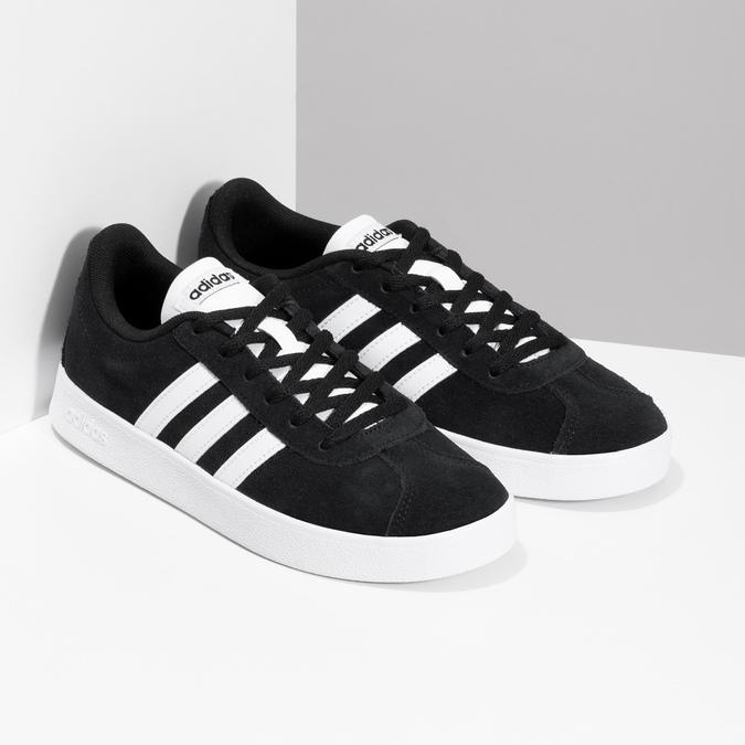 Czarne skórzane trampki dziecięce adidas, czarny, 403-6361 - 26