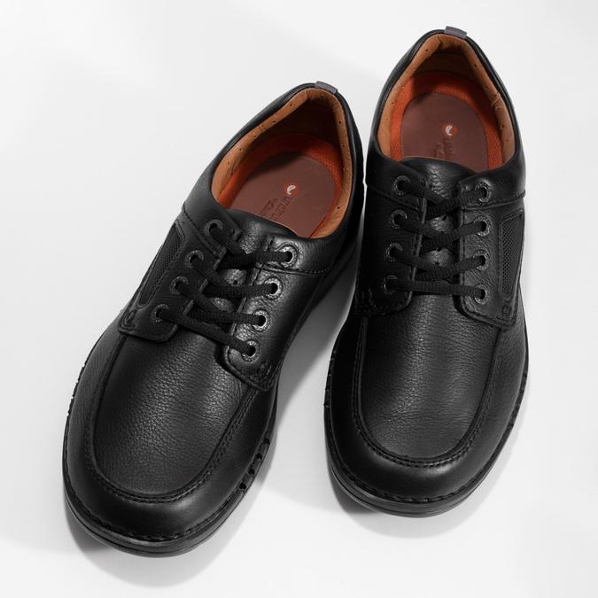 Przewiewne skórzane obuwie męskie clarks, czarny, 826-4089 - 16