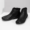 Zimowe skórzane botki damskie bata, czarny, 594-6708 - 16