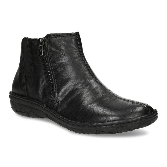 Zimowe skórzane botki damskie bata, czarny, 594-6708 - 13