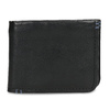 Skórzany portfel męski zobszyciem bata, czarny, 944-6214 - 26