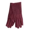 Bordowe rękawiczki zkryształkami bata, czerwony, 909-5692 - 13