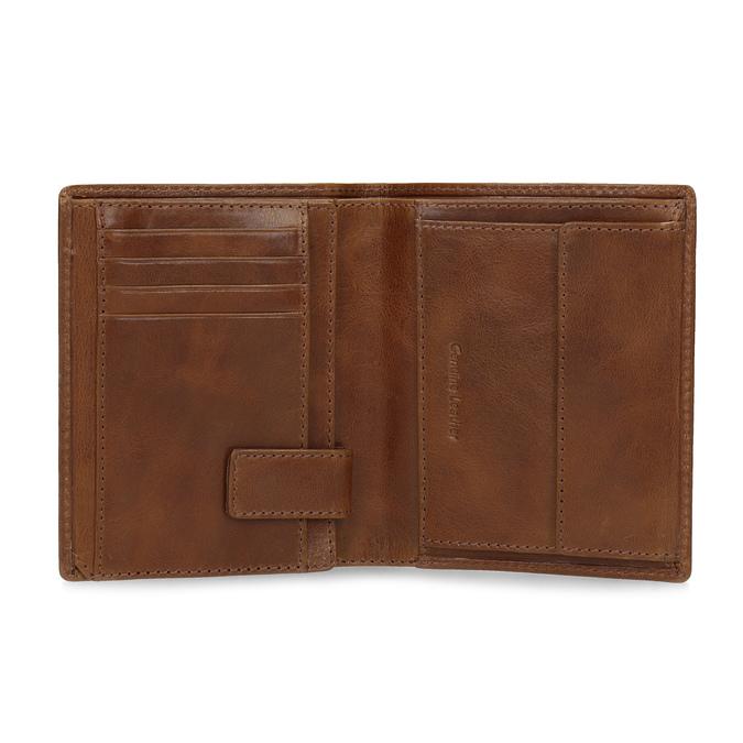 Brązowy skórzany portfel męski bata, brązowy, 944-3217 - 15